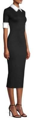 Alice + Olivia Delora Collared Midi Dress