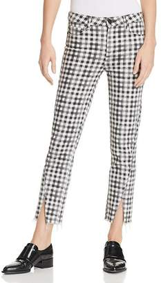 Paige Hoxton Ankle Straight Jeans in City Gingham