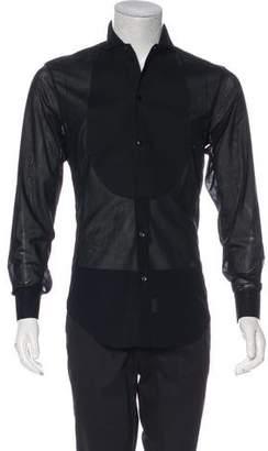 Giorgio Armani French Cuff Tuxedo Shirt