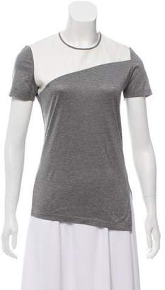 Reed Krakoff Leather-Accented Short Sleeve T-Shirt