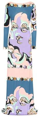 Emilio Pucci Belted printed maxi dress