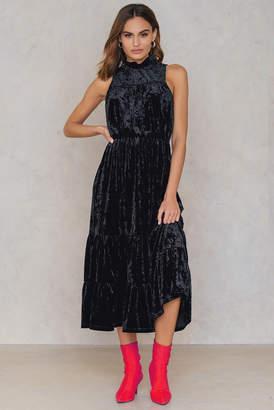 Na Kd Party Velvet Ankle Dress Black