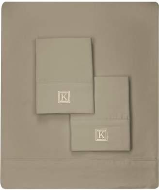 Luxor Linens Martano 600 TC Monogram Sheet Set (King)