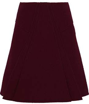 Roland Mouret Pleated Cloqué Mini Skirt