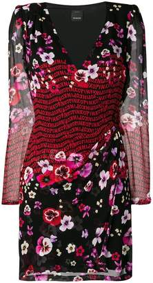 Pinko floral long-sleeve fitted dress