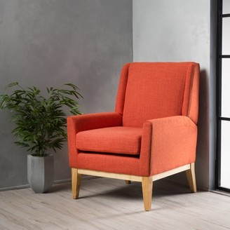 Noble House Regent Muted Orange Fabric Accent Chair