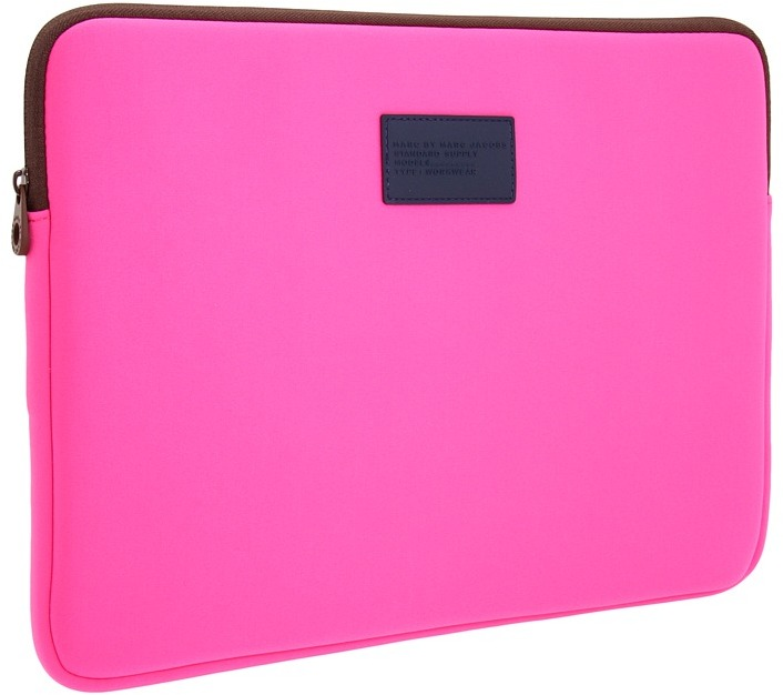 Marc by Marc Jacobs - Standard Supply Neoprene 15 Computer Case (Fluoro Fuchsia) - Bags and Luggage