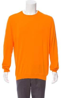 Malo Crew Neck Woven Sweater