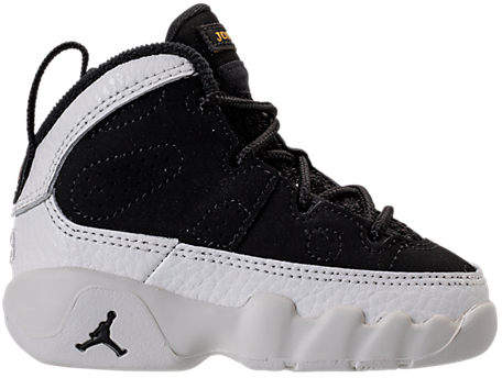 Boys' Toddler Air Jordan Retro 9 Basketball Shoes, Black