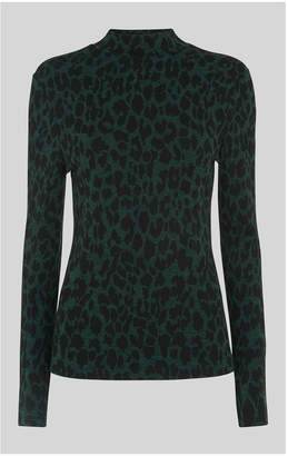 Whistles Animal High Neck Top