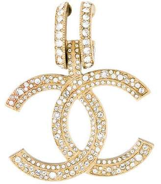 Chanel Crystal CC Single Clip-On Earring