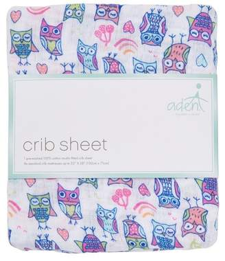 Aden Anais aden by aden + anais Wise Owl Crib Sheet