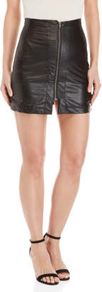 Gaudi' Gaudi Faux Leather Zip Mini Skirt