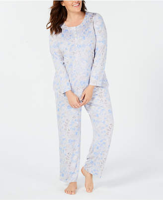 Charter Club Plus Size Soft Knit Pajama Set