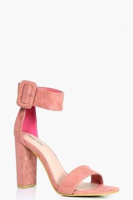 boohoo Isla Cuff Detail Block Heels