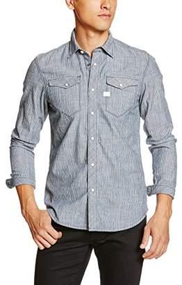 G Star Men's Tacoma Deconstructed Ticking Stripe Shirt L/s