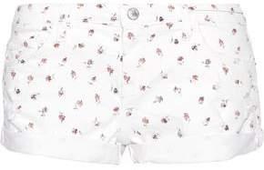 Current/Elliott The Girlfriend Floral-Print Denim Shorts