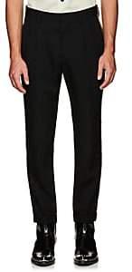 Calvin Klein Men's Striped Wool Trousers - Black