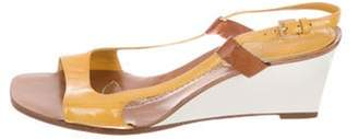Louis Vuitton Patent Leather Slingback Wedges Patent Leather Slingback Wedges