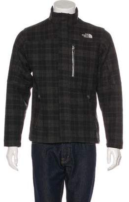 The North Face Wool Plaid Logo Jacket