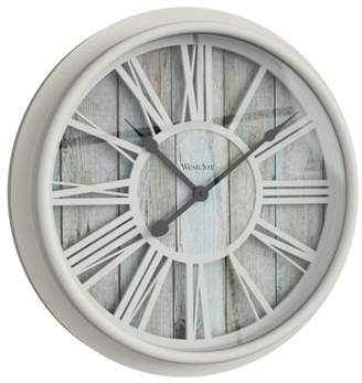 "Westclox 33976 15.5"" ROMAN NUMERAL WALL CLOCK- ANTIQUE WHITE"