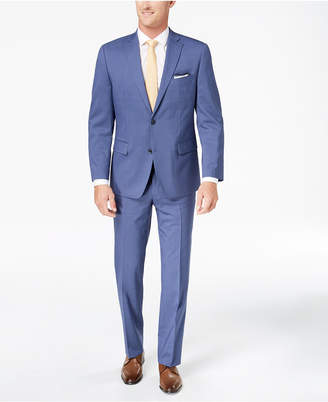 Michael Kors Men's Classic-Fit Light Blue Pinstripe Suit