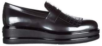 Hogan H323 Maxi Wedge Fringed Loafers