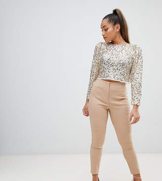Asos DESIGN Petite high waist pants in skinny fit