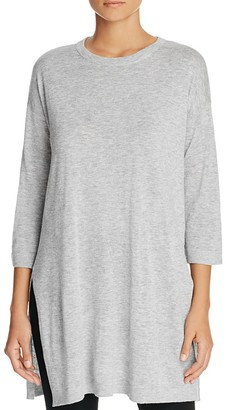 Eileen Fisher Heathered Drop Shoulder Tunic $228 thestylecure.com
