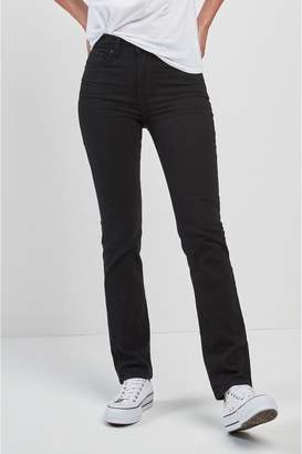 Levi's Womens 724 High Rise Straight Jean - Black