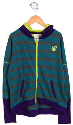 Nike Girls' Hooded Knit Sweatshirt