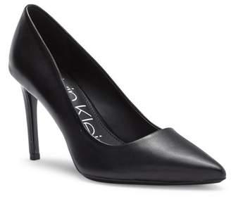 Calvin Klein Ronna Pointy Toe Leather Pump