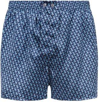 Derek Rose Pelican Silk Boxer Shorts