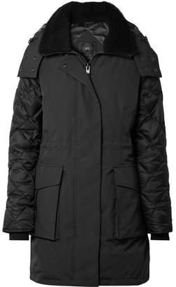 Canada Goose Elwin Shearling-trimmed Quilted Shell Down Jacket - Black