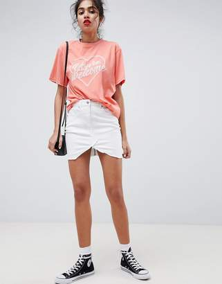 Parisian Denim Mini Skirt