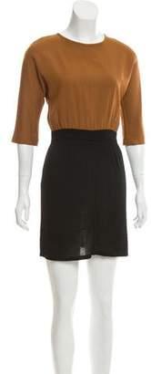 Fendi Colorblock Mini Dress
