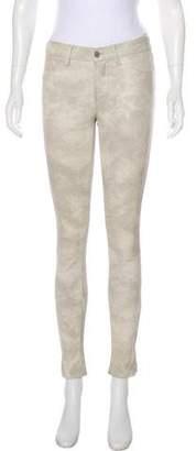 J Brand Mid-Rise Skinny Leather Pants