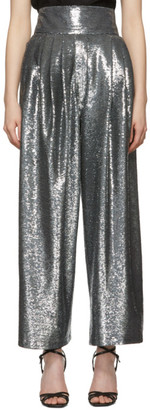 Marc Jacobs Blue Micro-Sequin Dress Trousers
