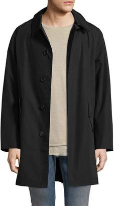 Fred Perry Men's Solid Spread Collar Raincoat