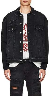 Ksubi Men's Oh G Distressed Denim Oversized Jacket