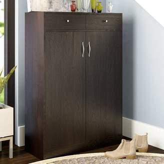 Latitude Run 20 Pair Shoe Storage Cabinet