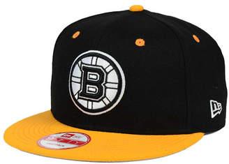 New Era Boston Bruins Black White Team Color 9FIFTY Snapback Cap