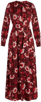 Altuzarra Melia floral-print silk-jacquard dress