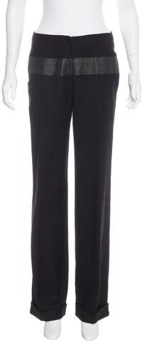 Fendi Mid-Rise Virgin Wool Pants