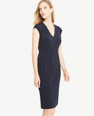 Ann Taylor Seasonless Stretch Cap Sleeve Sheath Dress