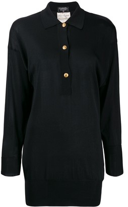 Chanel Pre-Owned 1990's silk slim polo shirt