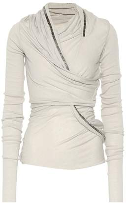 Rick Owens Lilies embellished knit top