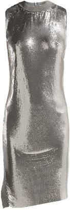 Paco Rabanne Mesh round-neck mini dress
