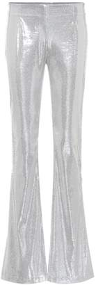 Galvan Galaxy flared sequinned pants