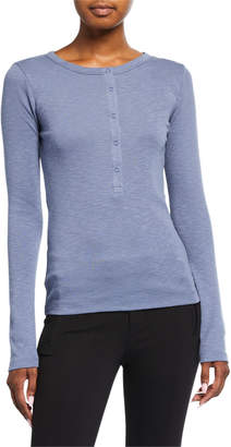 Vince Long-Sleeve Henley Shirt